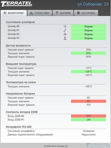 Мониторинг состояния датчиков, Устройство дистанционного мониторинга